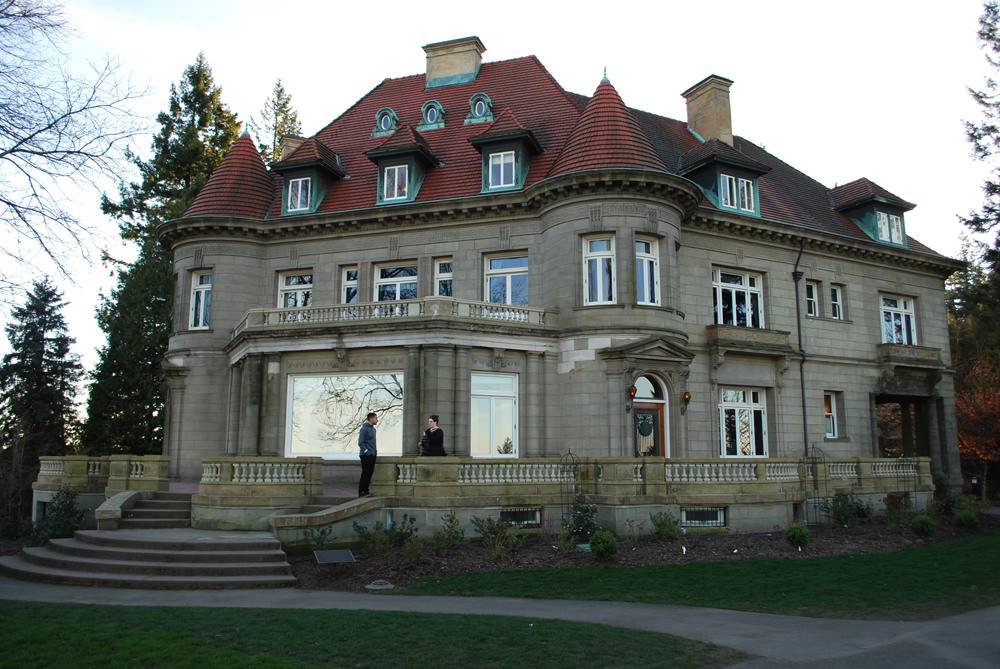 We went to the Pittock Mansion for a gorgeous view of Portland.