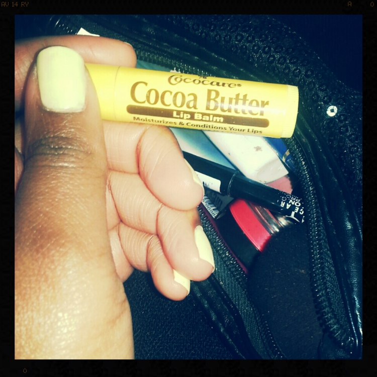 My cocoa butter from my daily makeup bag