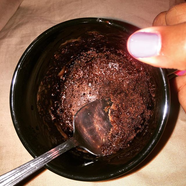 Tonight I learned how to make a #brownie in a cup/microwave for the first time!!! Somehow, SOMEHOW, I know, in this moment, that my life has changed for the better 😂😂😂 #brownieinamug #lifechangingexperience #theyshouldnthavetoldme #whydidyoutellmethat #chocolatelovers