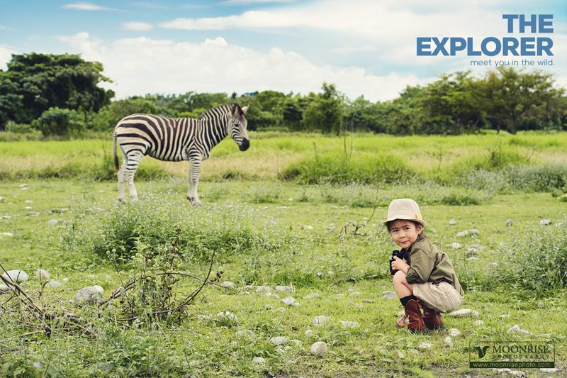 Discover  I find a zebra. 「牠好像發現我了!」 「牠會衝過來嗎?」 「初次見面,有點緊張啊...」