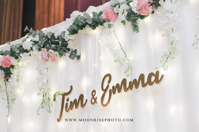 Tim & Emma W Hotel 教堂證婚婚禮   The things God prepared for those who love him.
