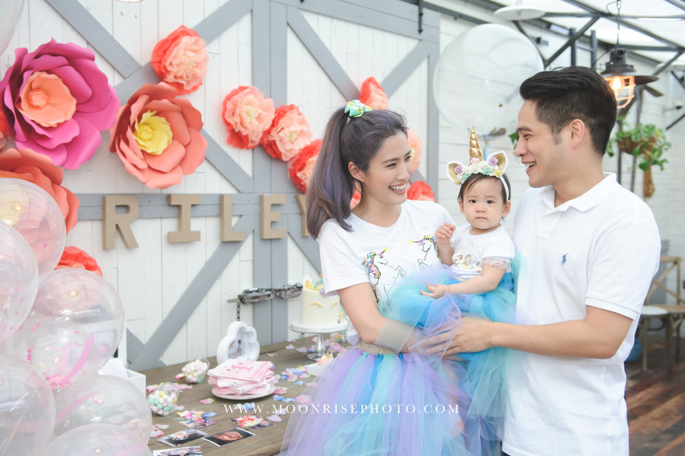 Riley's 1st Birthday-慶生派對紀錄 (女人軍團 Lydia蔡沐妍)  Wish you a whole world of happiness now that your birthday is here.