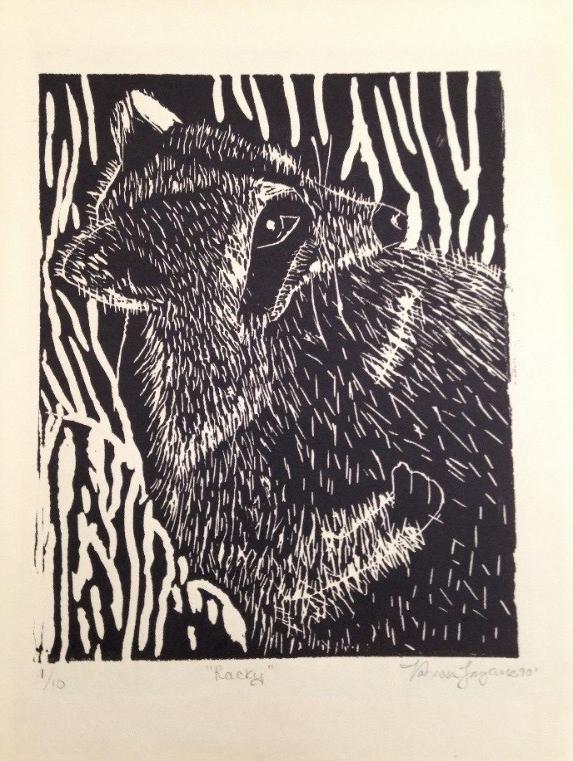 "Figure 6: Linoleum print. Age: 16, ""Racky"" really?"