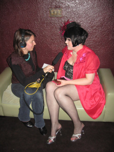 (Ruth sits for her NPR interview 2009)