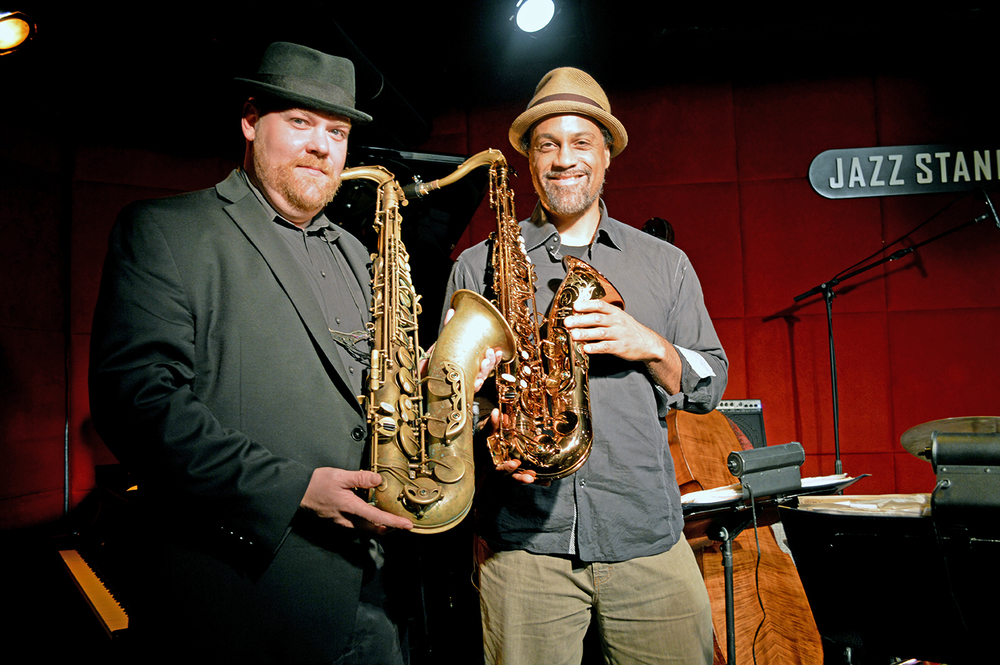 Matt Parker and Craig Handy playing the tenor chairs in the Mingus Big Band. Both are official endorsers for TM Custom Saxophones