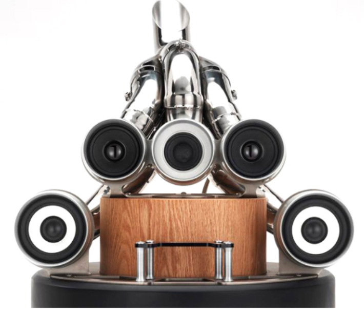 A Sound System Made From Old Cars Exhausts