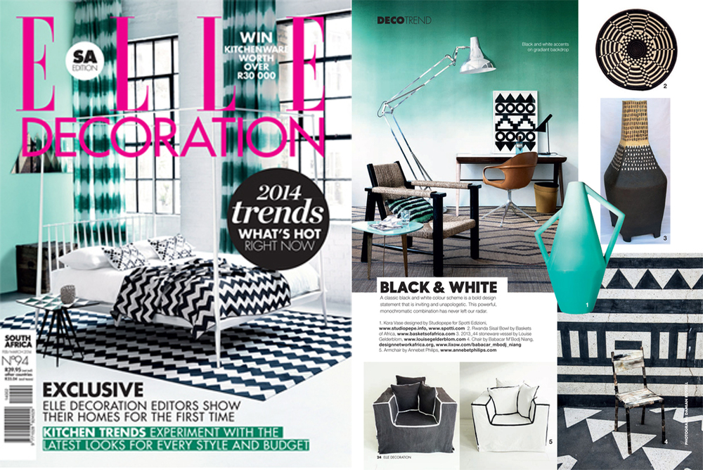 Elle Decoration Trends 2014  - South Africa