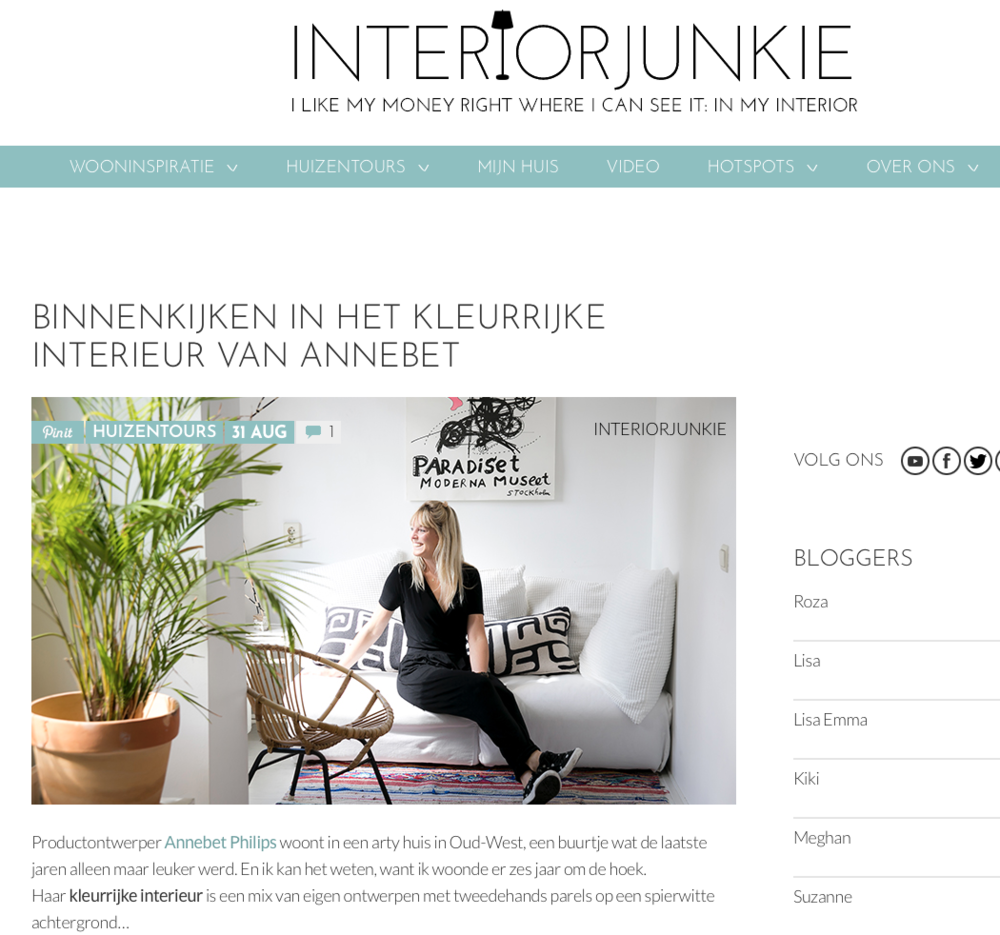 "Interview blog ""INTERIORJUNKIE"""
