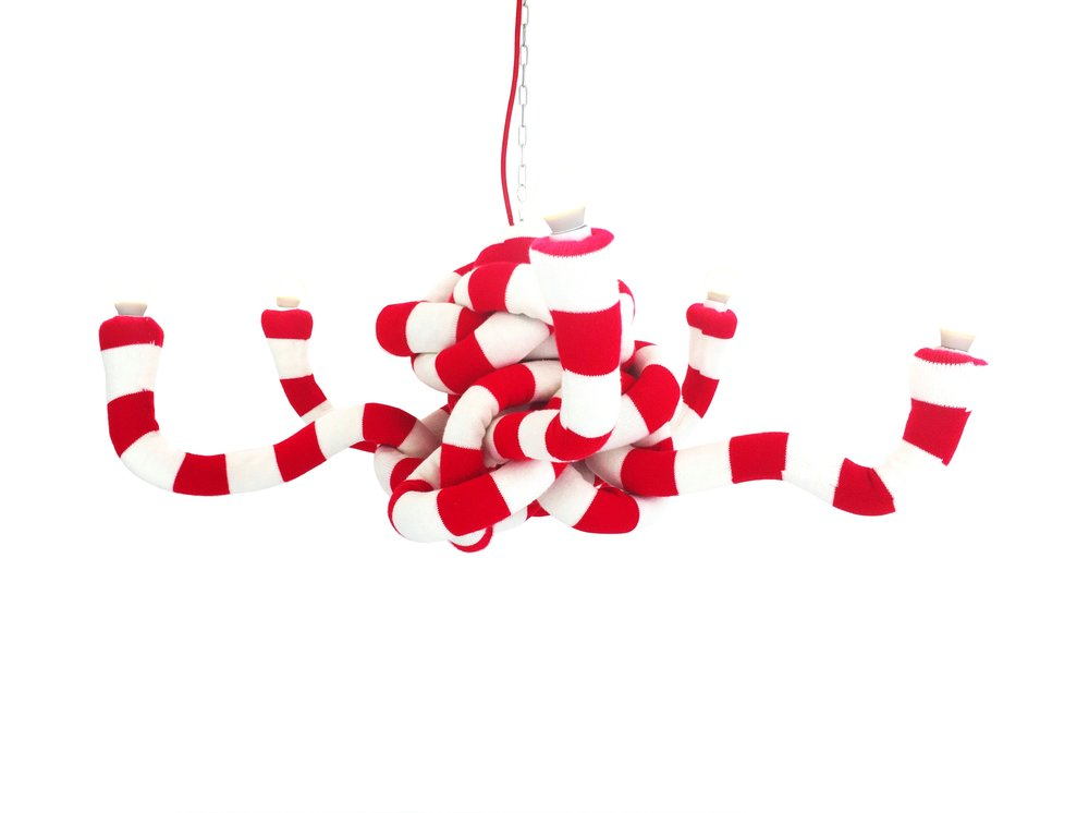 Knot Chandelier red and white.jpg