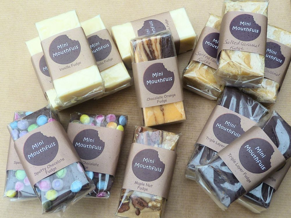 Individually wrapped fudge