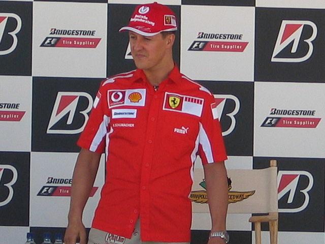 German F1 driver Michael Schumacher