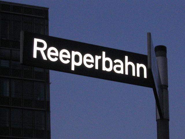 Hamburg's Reeperbahn street