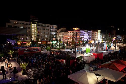 Live music festival at Reeperbahn