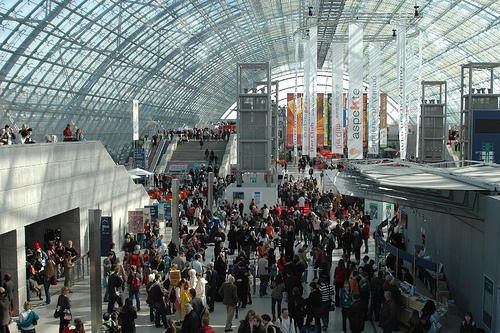 Leipzig Book Fair always draws a large crowd