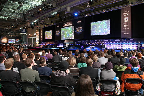 Sometimes it is fun and games, CeBIT League of Legends tournament.