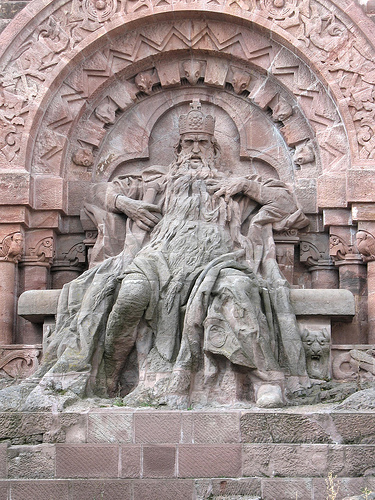 Frederick I, Redbeard, at the Kyffhäuser monument.