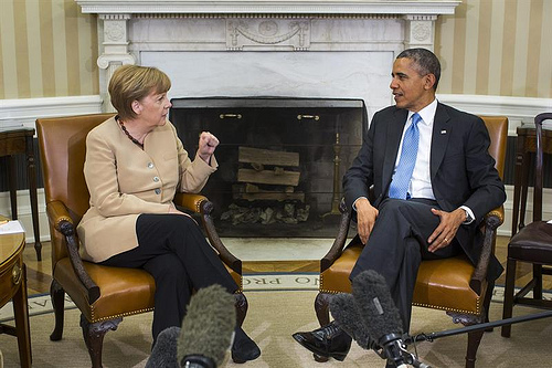 Merkel and Obama May 2nd 2014
