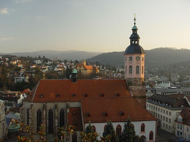 Baden-Baden skyline.