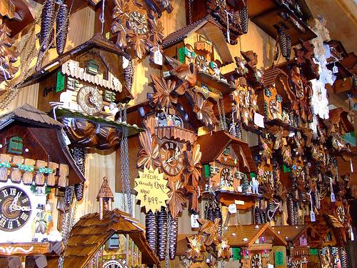 Cuckcoo clocks invented in Schönwald im Schwarzwald