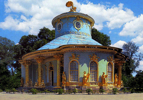 The Chinese House in the Sanssouci gardens.