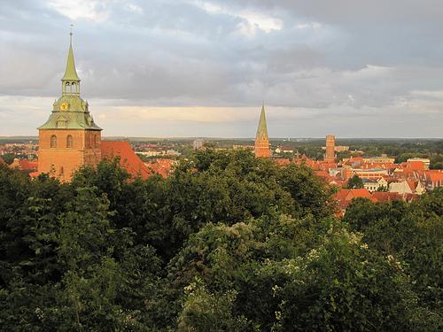 Lüneburg skyline.