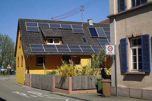 Solar panels on rooftops is the plan for success.