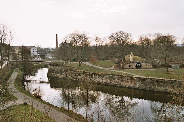 By the river Saar.