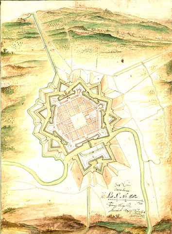 Saarlouis shape while used as a fortress city.