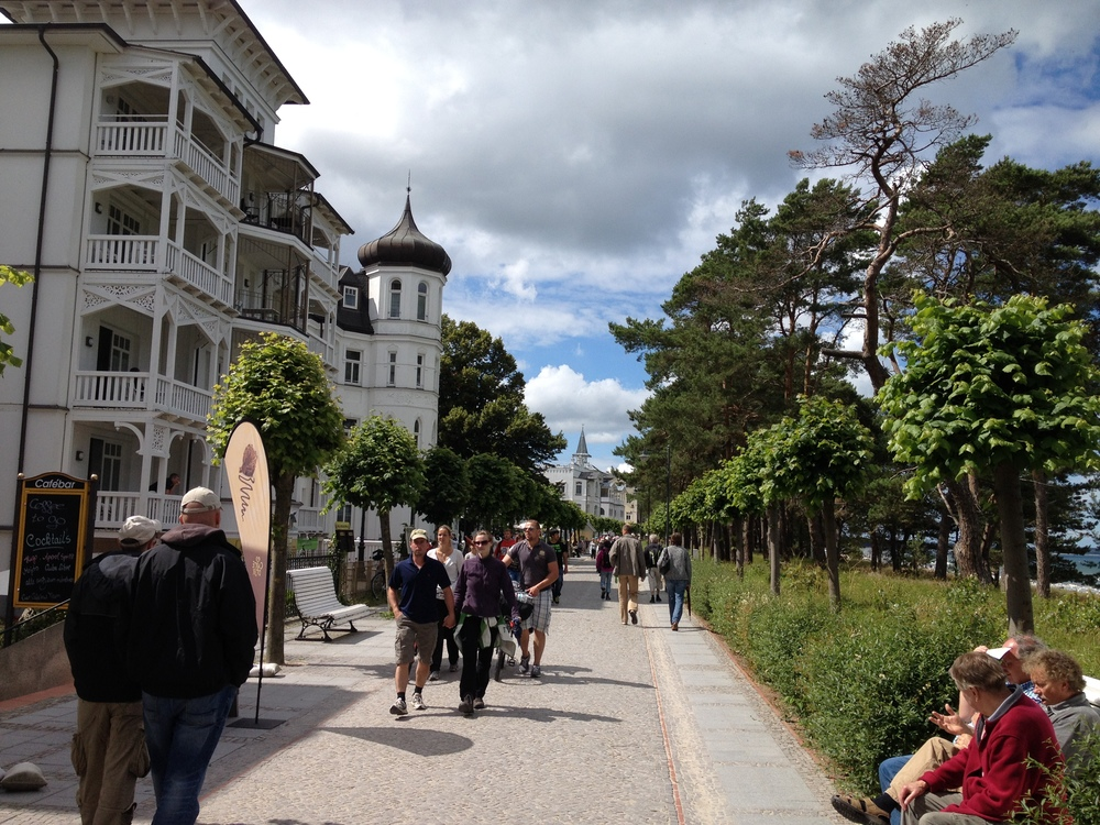 Down the beach walkway in Binz.