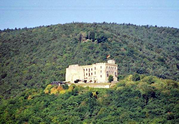 A castle in Hambach along the trail.