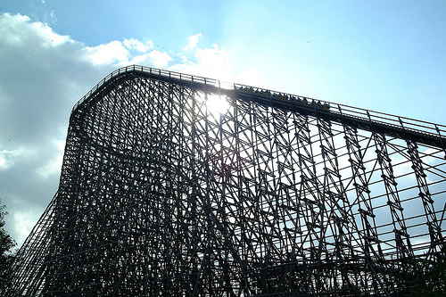 The Colossus. Largest European wooden roller coaster!
