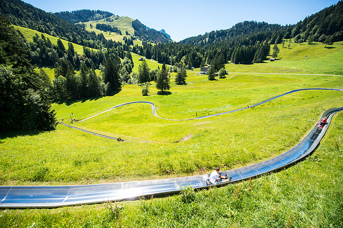 Beautiful Rodelbahn track.