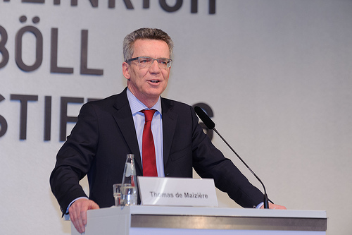 Thomas de Maiziere speaks for the Digital Agenda bill.