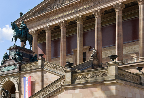 Alte Nationalgalerie has a collection of fine arts.