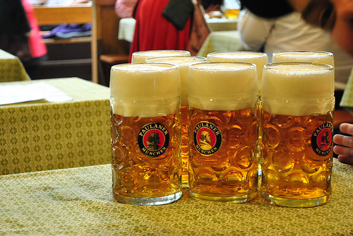 What Oktoberfest is known for... Beer!