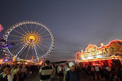 Oktoberfest is a 100 acre fairground.