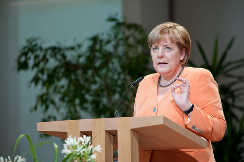 Angela Merkel says that NATO troops will not be stations near Russia right now.