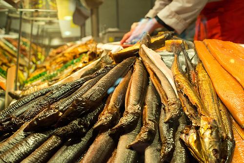 Fresh fish at Hamburg's Fish Market.