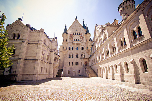 An inner courtyard of Neuschwanstein.