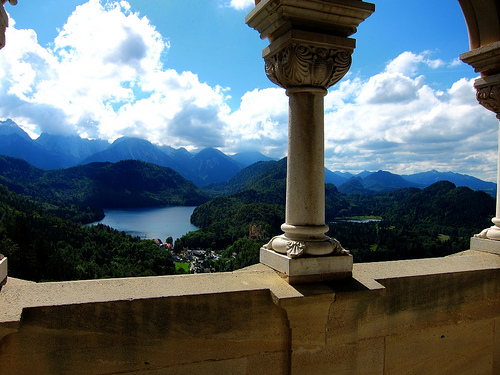 An amazing view from the Neuschwanstein castle.