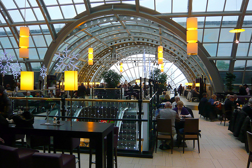 Top floor restaurant with amazing view at KaDeWe.
