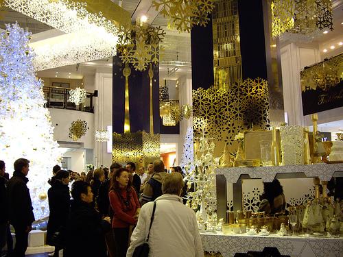 Christmas shopping at KaDeWe.