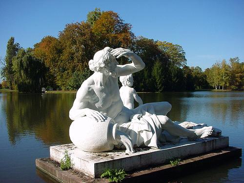 Schwetzingen garden statue.