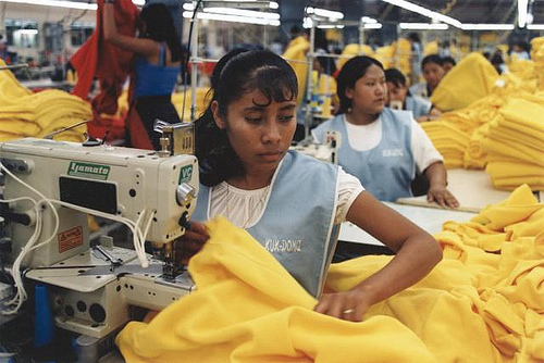 Germany to help stop sweatshop conditions.