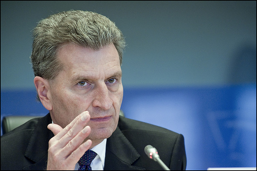 Gunter Oettinger the new Commissioner for Digital Economy and Society.