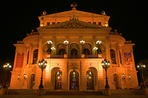 The Old Opera house rebuilt to its original beauty.