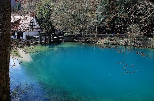 Alluring blue water of Blautopf.