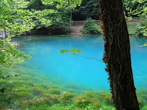 Blautopf, natural spring 21 meters deep.