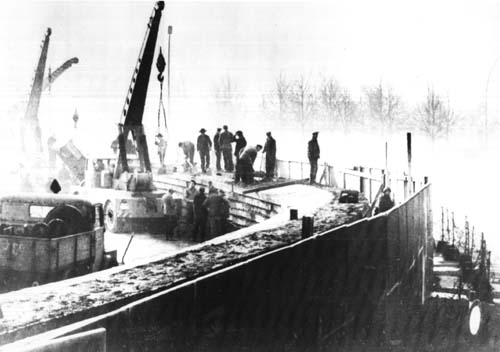 The construction of the wall in 1961
