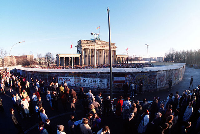 Photo by SSGT F. Lee Corkran Brandenburg Gate on December 1, 1989